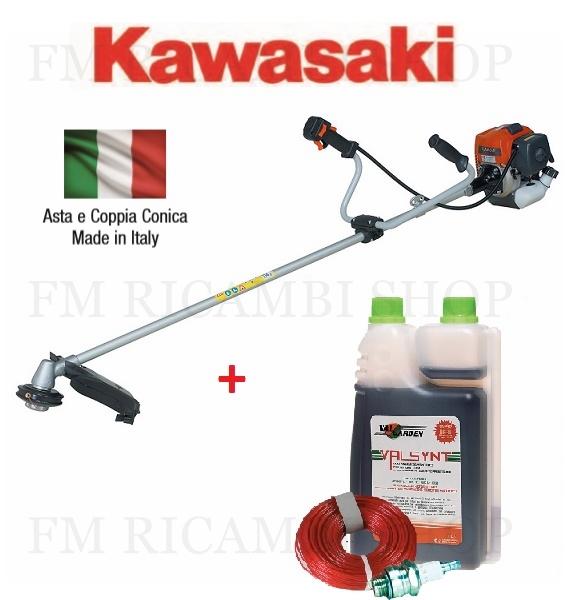 decespugliatore kawasaki tj45 con impugnatura doppia